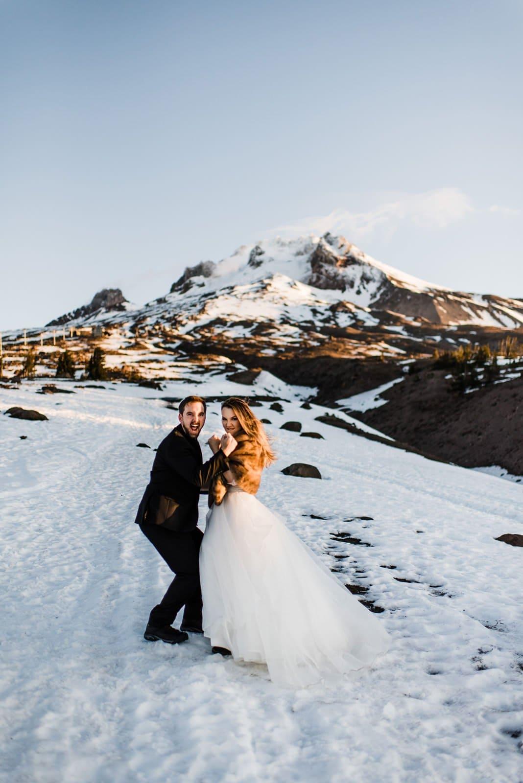 mountain elopement celebration