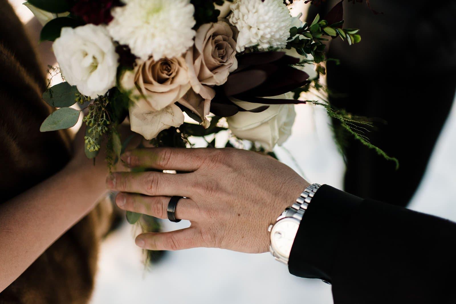 wedding detail shots of rings
