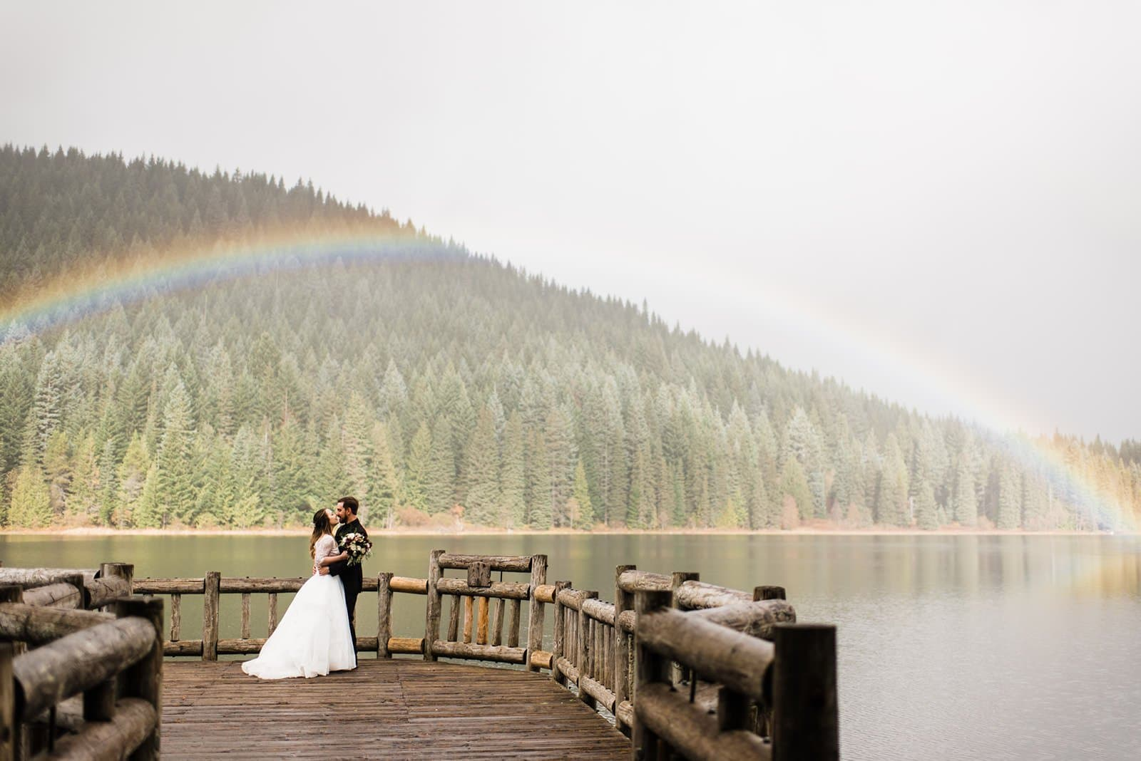 wedding rainbow portraits