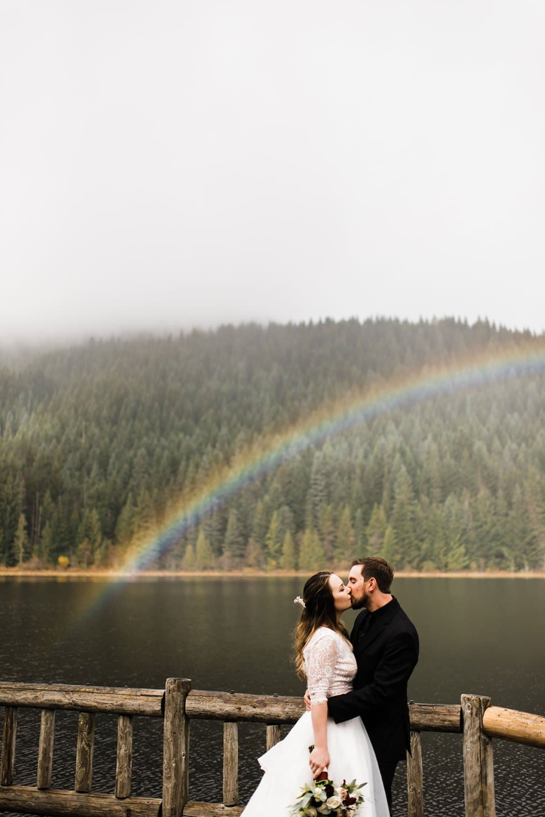 rainbow for wedding portraits