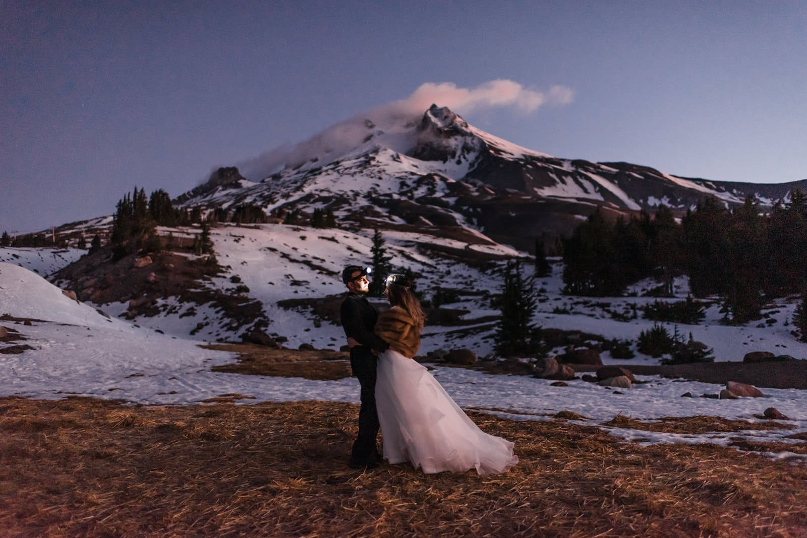 mountain elopement at sunrise