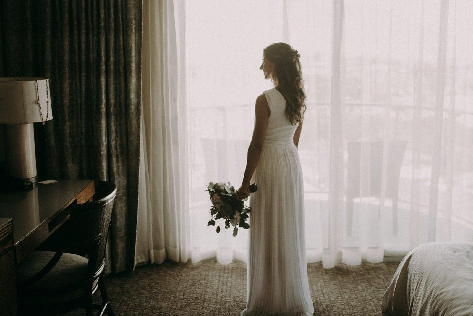 intimate detail shot of bride