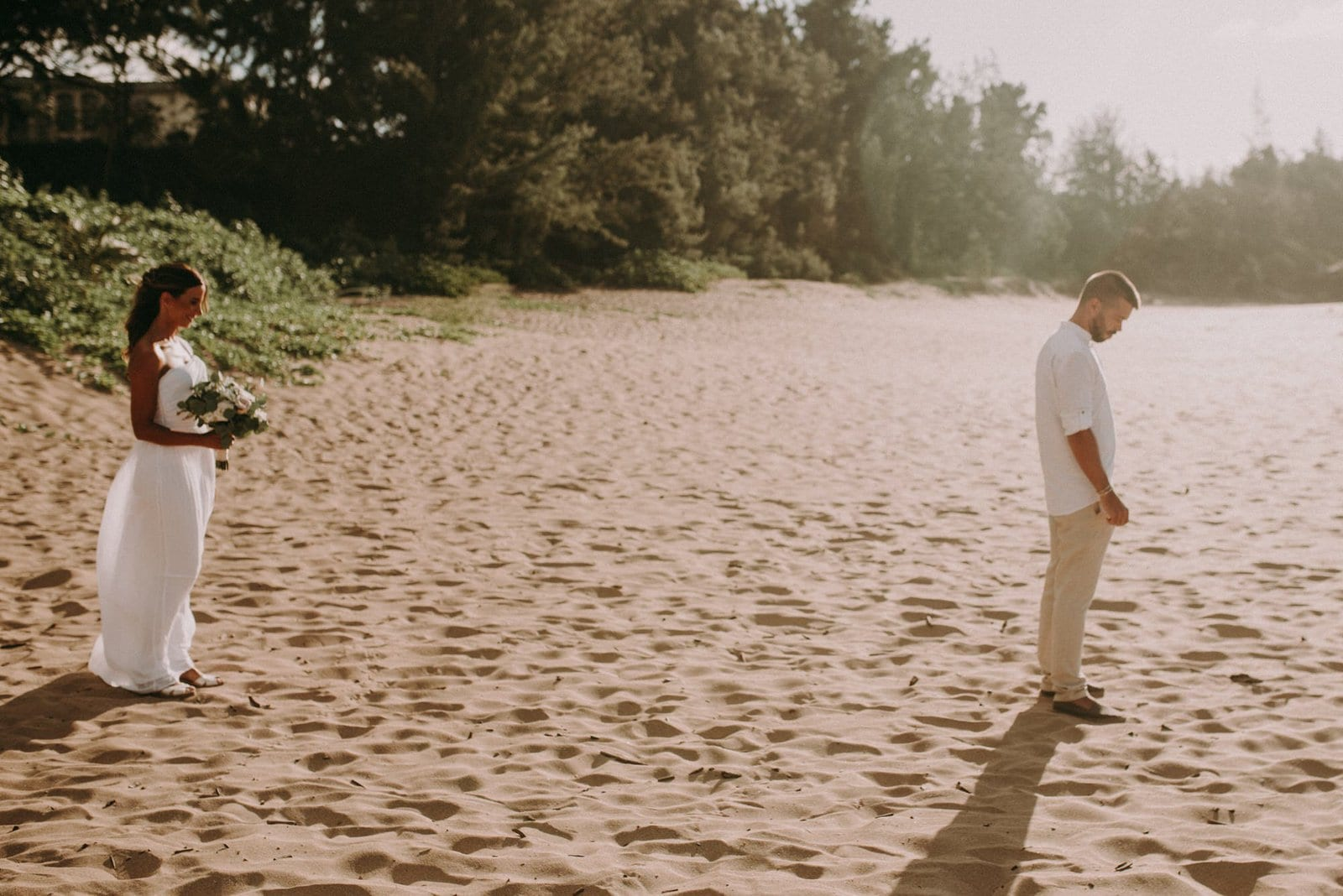 first look during maui elopement