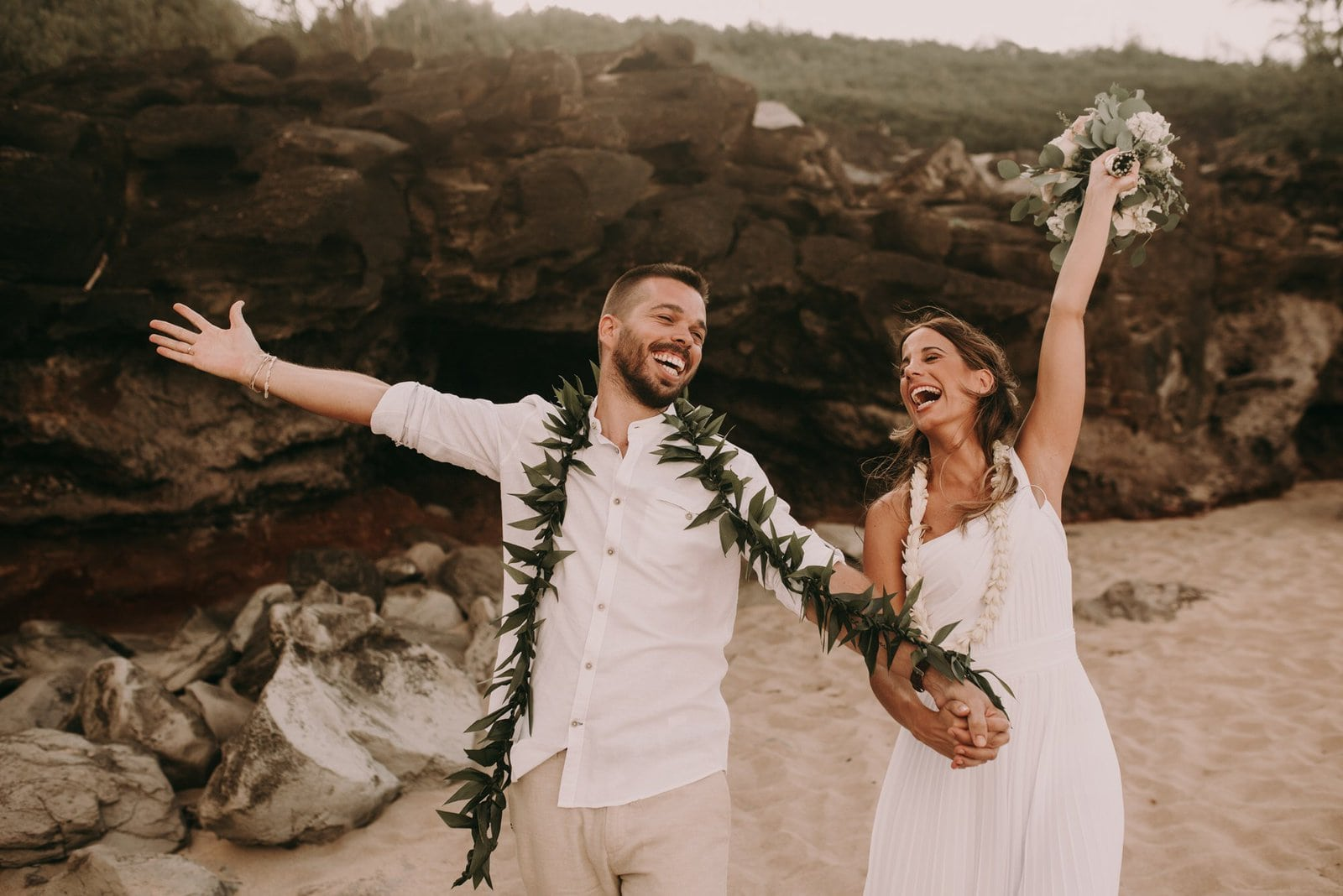 celebrating marriage in Hawaii