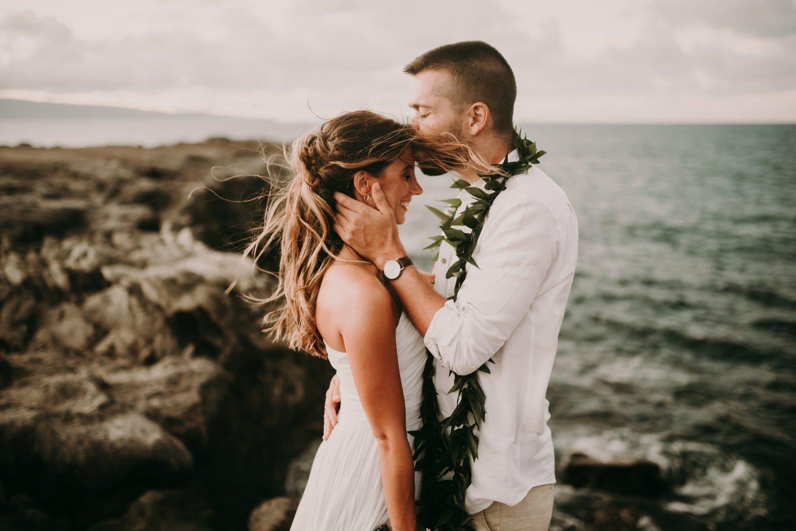 bride in groom in Hawaii