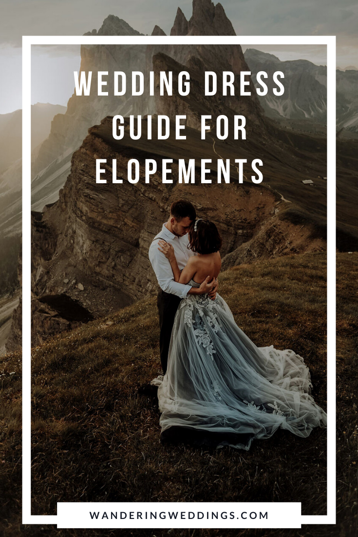 wedding dress guide for elopements