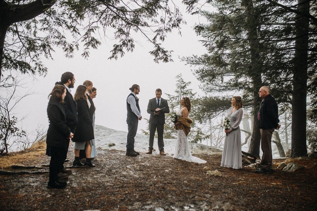bridal party at Minnewaska State Park.