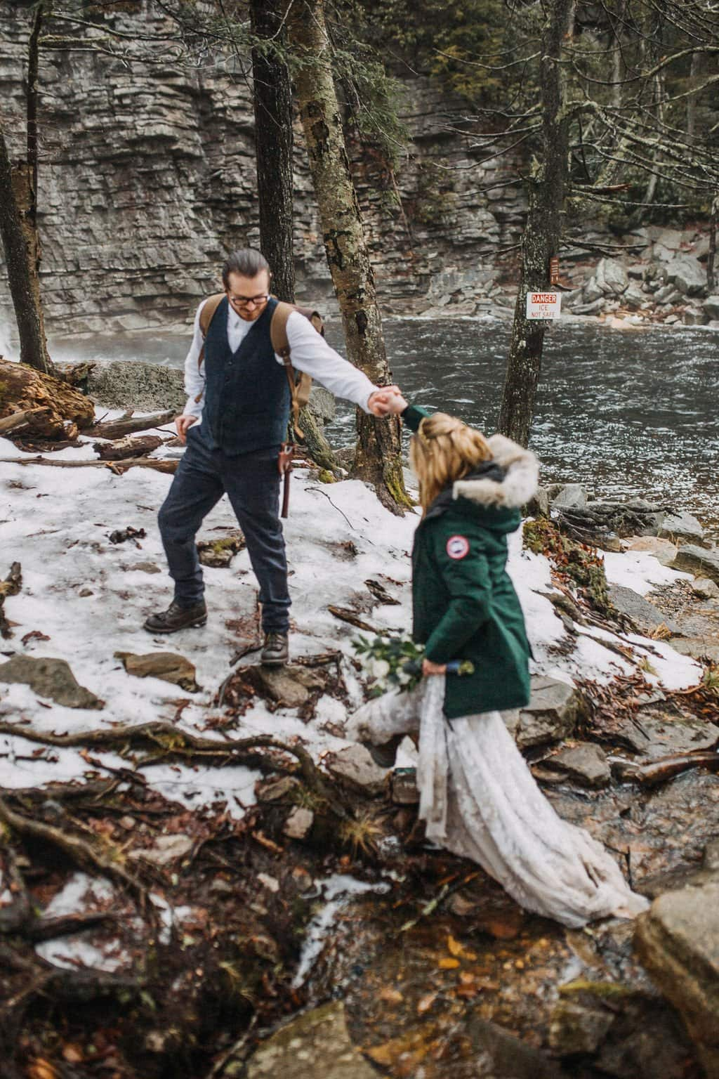 elopement at Minnewaska State Park.