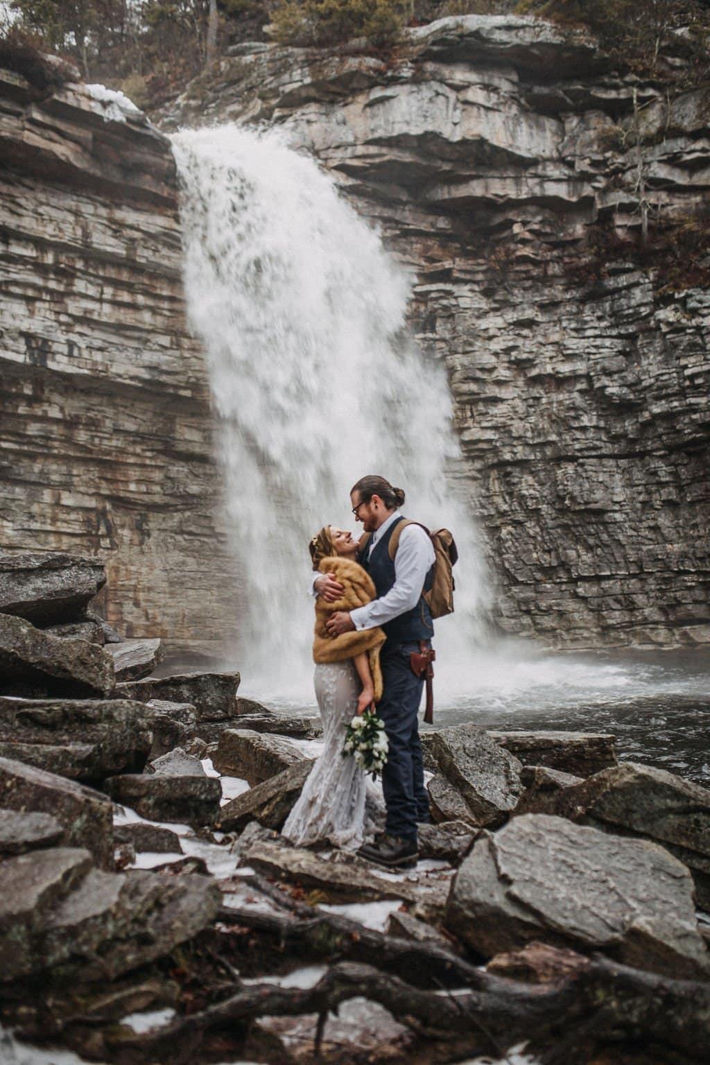 NY falls elopement