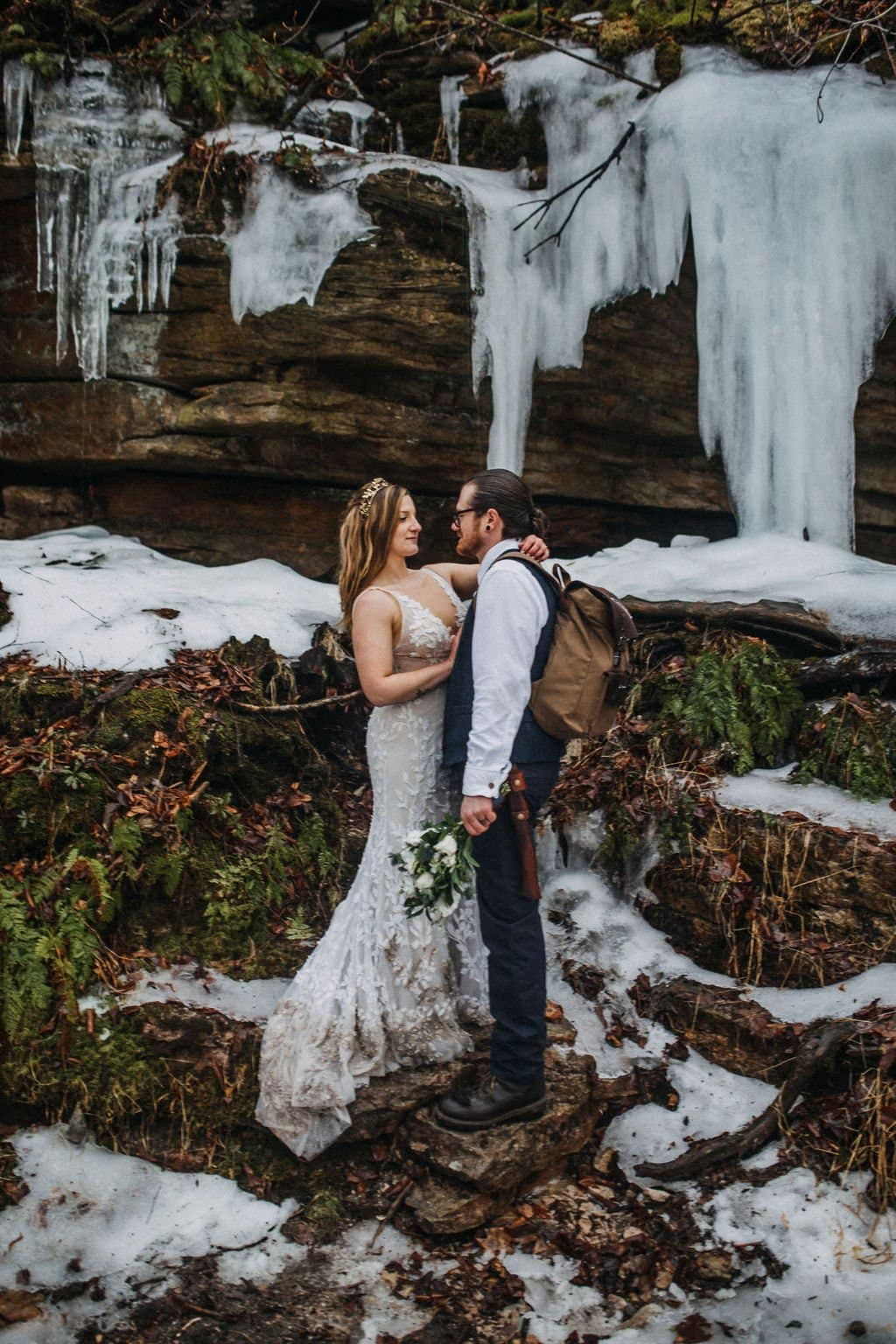 adventurous NY elopement