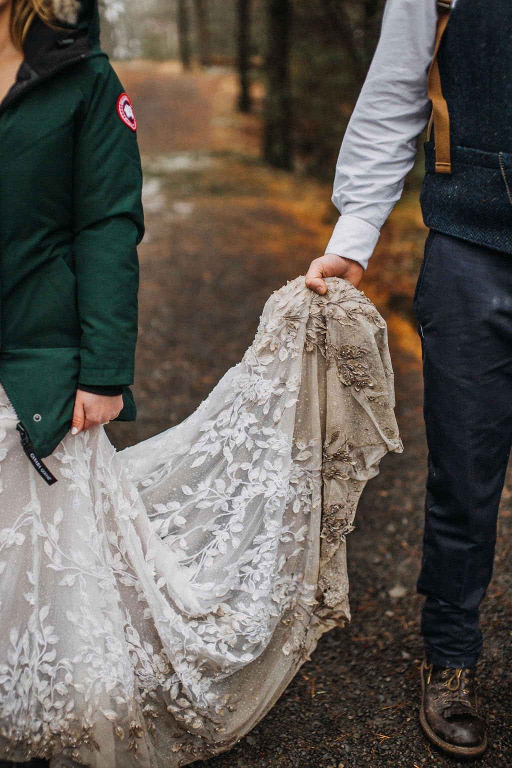 dirty dress from elopement