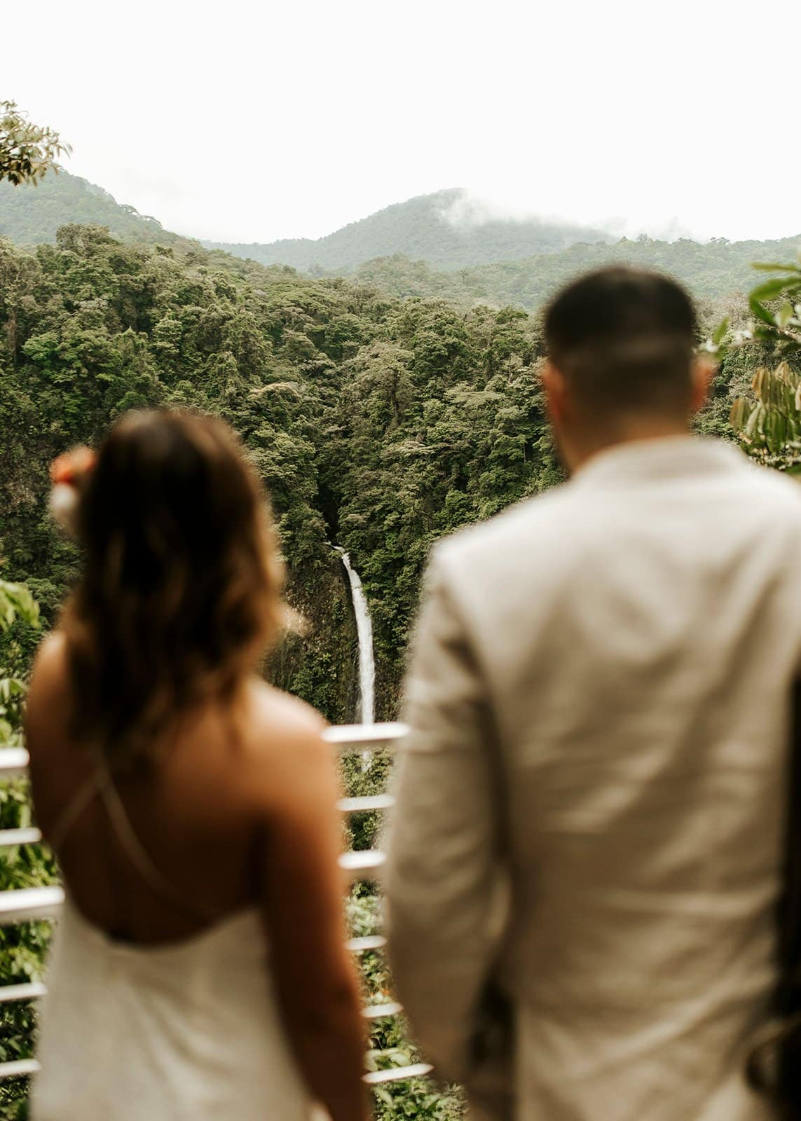 couple in costa rica during wedding