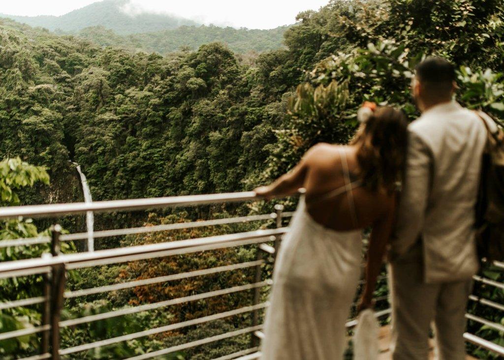Costa Rica elopement at La Fortuna Waterfall