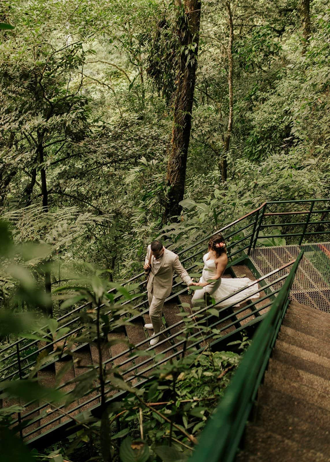 couple in Costa rica rainforest
