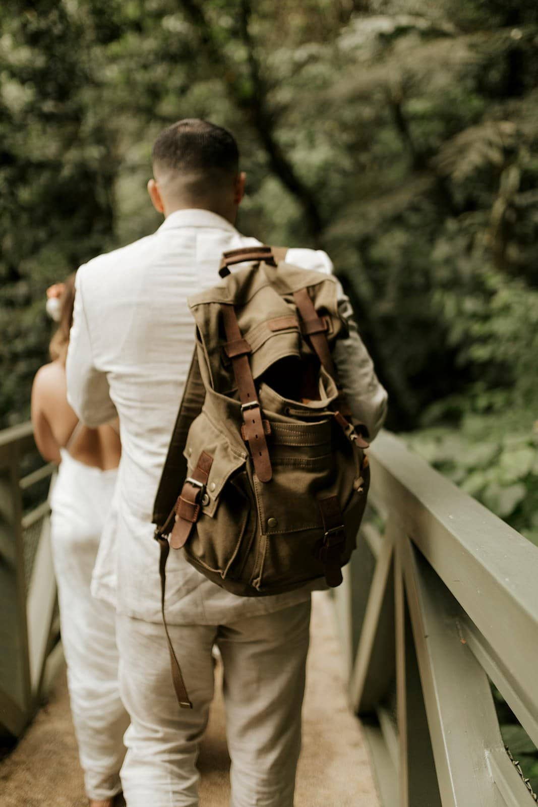 hiking during elopement