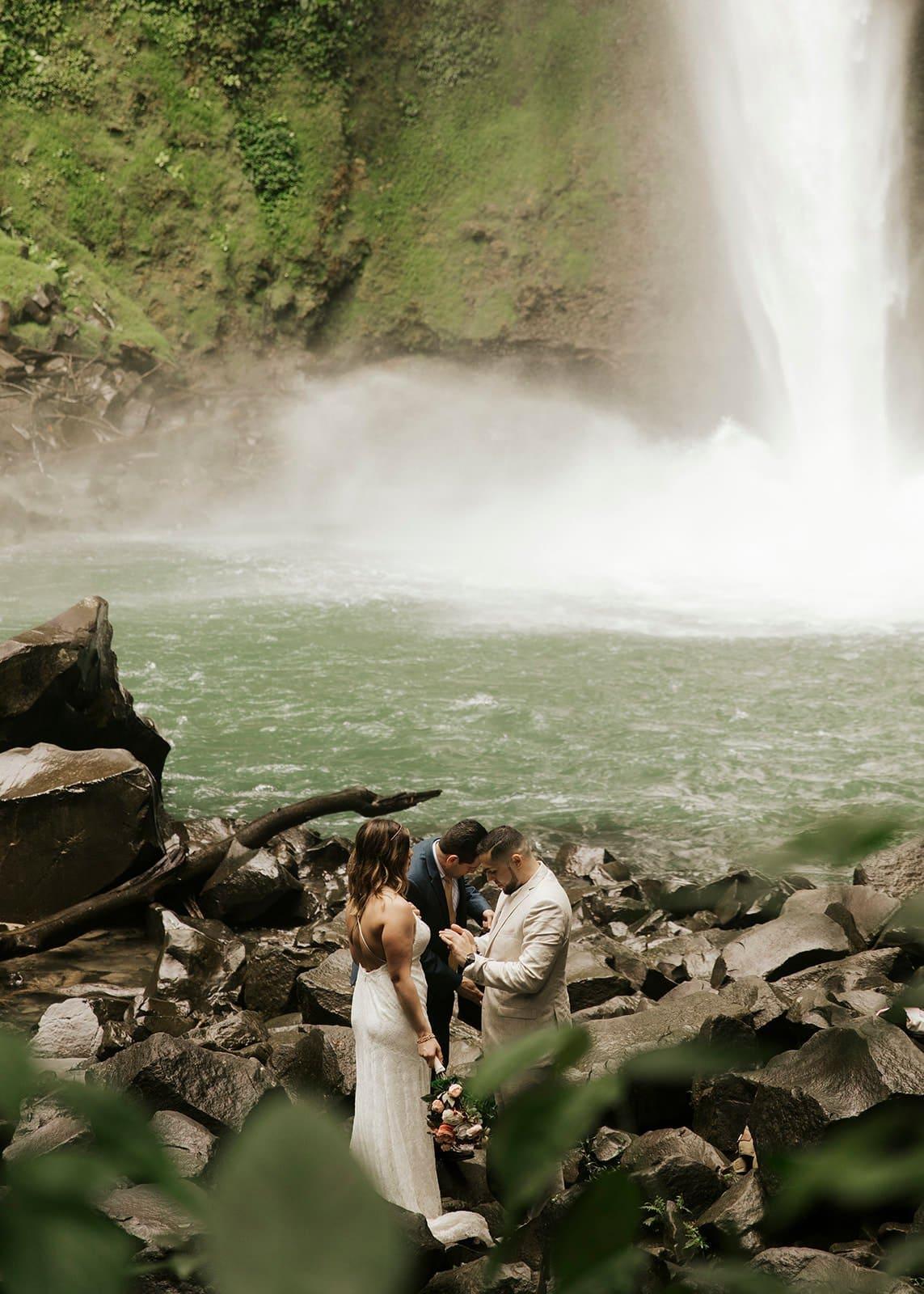 costa rica waterfall elopement destination