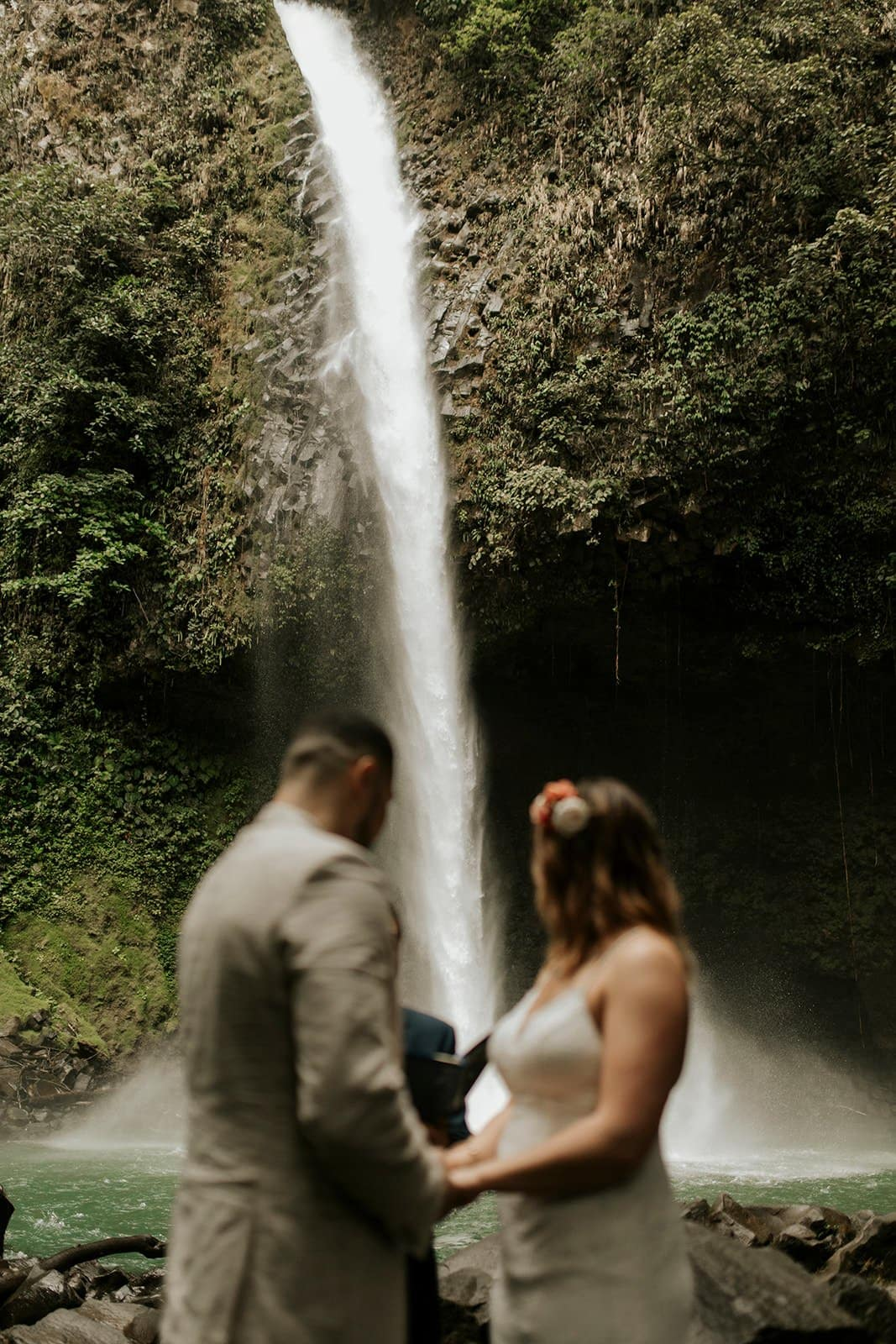 waterfall elopement photography