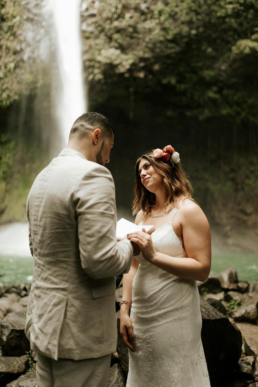 ceremony during this elopement