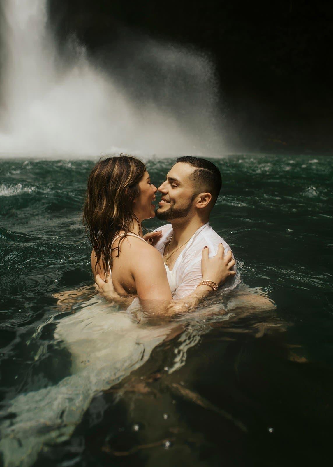 costa rica waterfall elopement