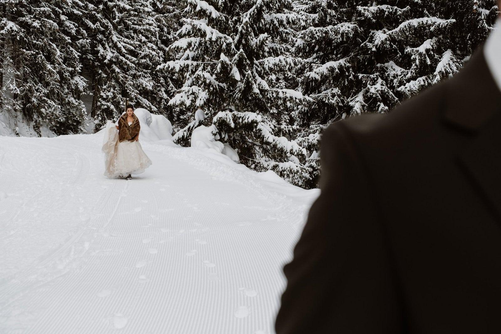 wedding adventure first look