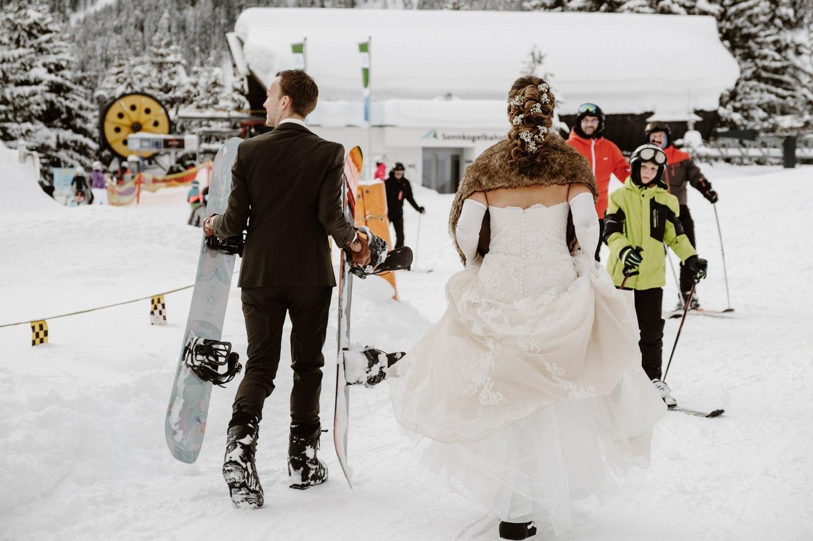 snowboard wedding