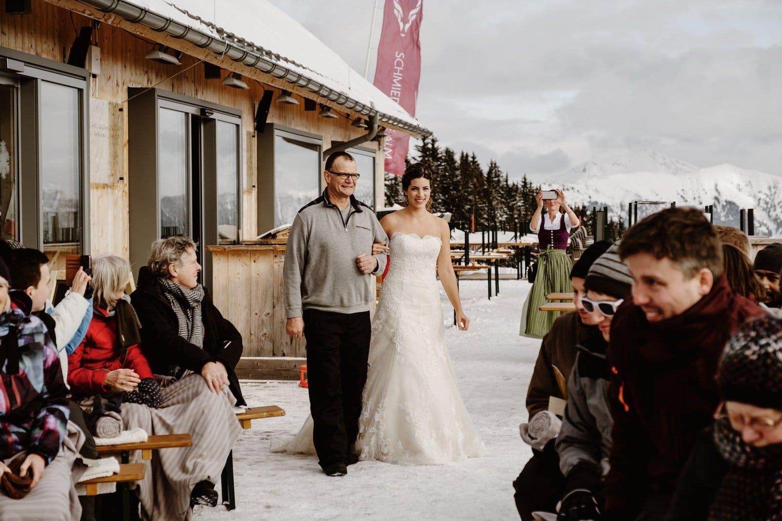 bride walking down ceremony