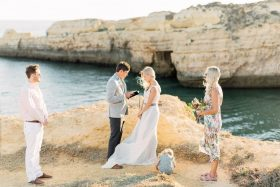 Beach Vow Renewal Near Portugal With Their Adorable Daughter