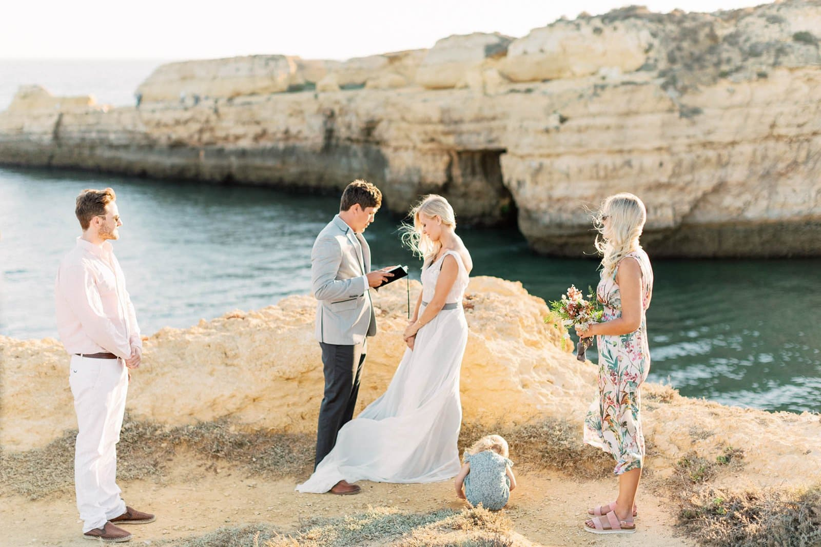 beach vow renewal in Portugal
