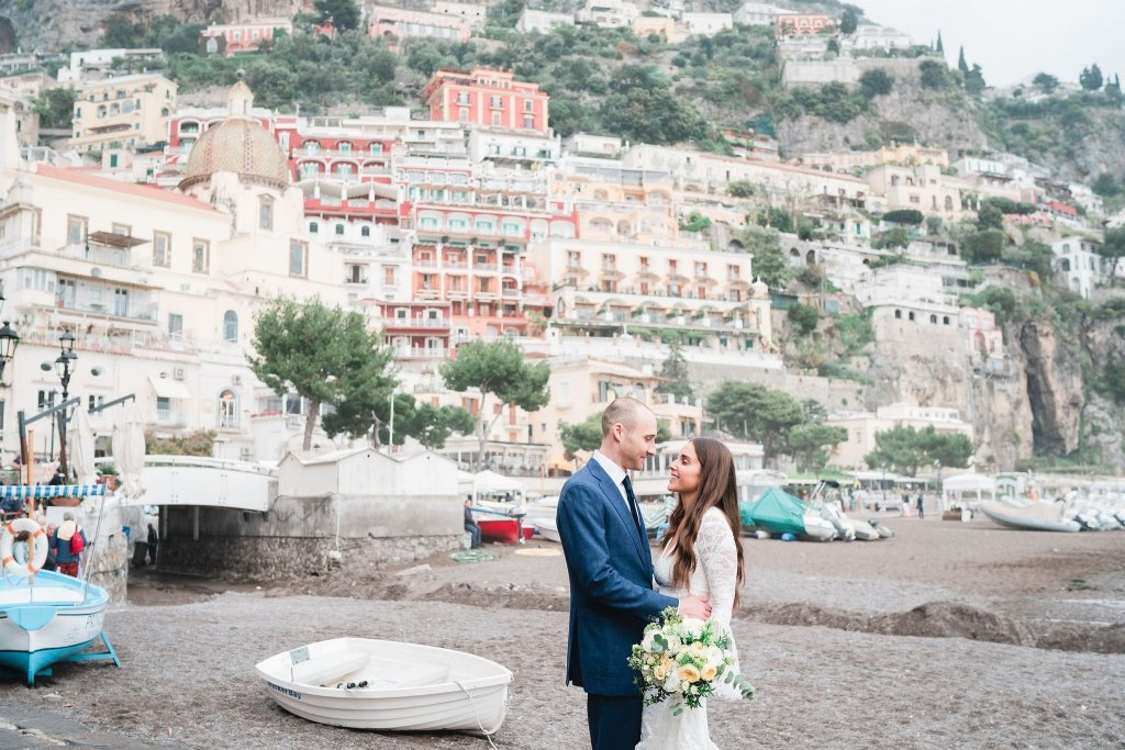 Positano in Amalfi Coast Italy elopement