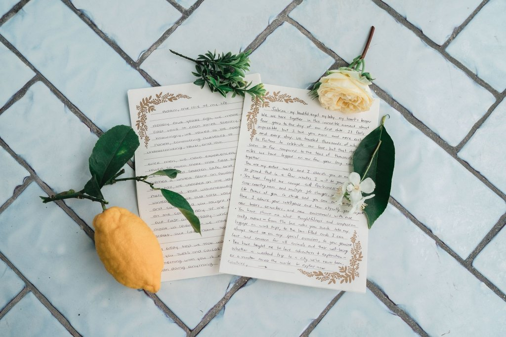 vows from elopement couple