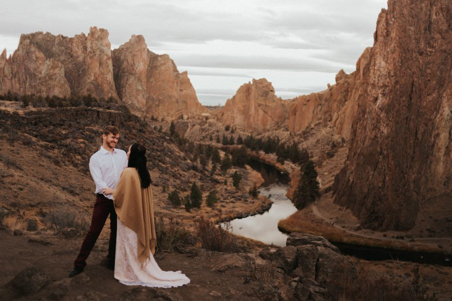 Mandy & Dan at Smith Rock State Park in Central Oregon