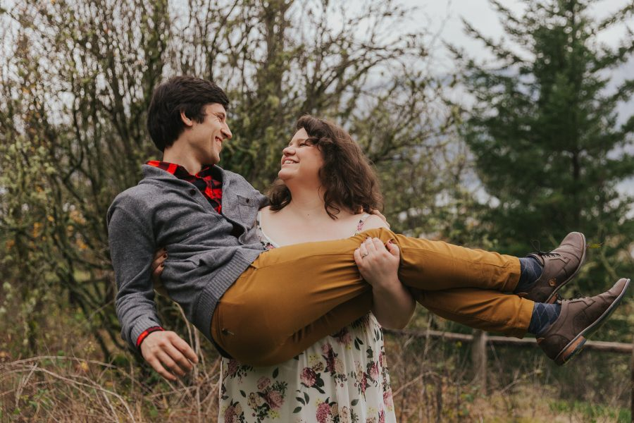 Anya & Aaron during their engagement session in Oregon