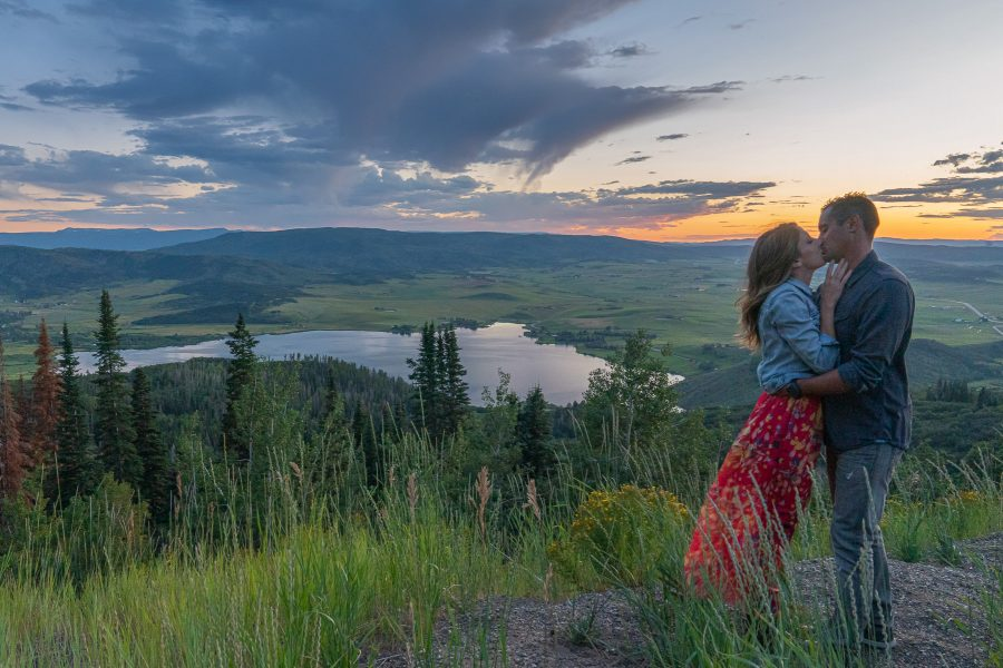 Love under the colorful Colorado sunset