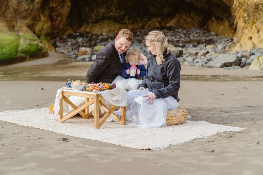 Celebrate with a picnic on the beach
