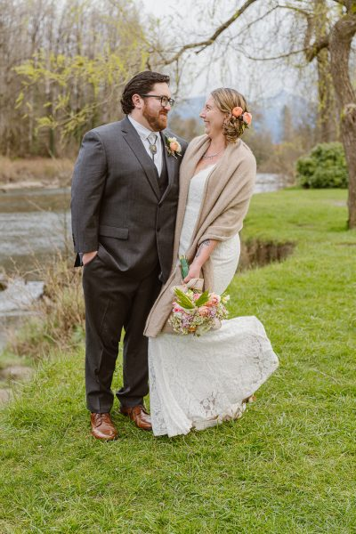 This couple had a beautiful wedding in the park where they had their first date