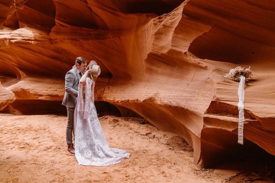 Eloping in slot canyons is very magical!