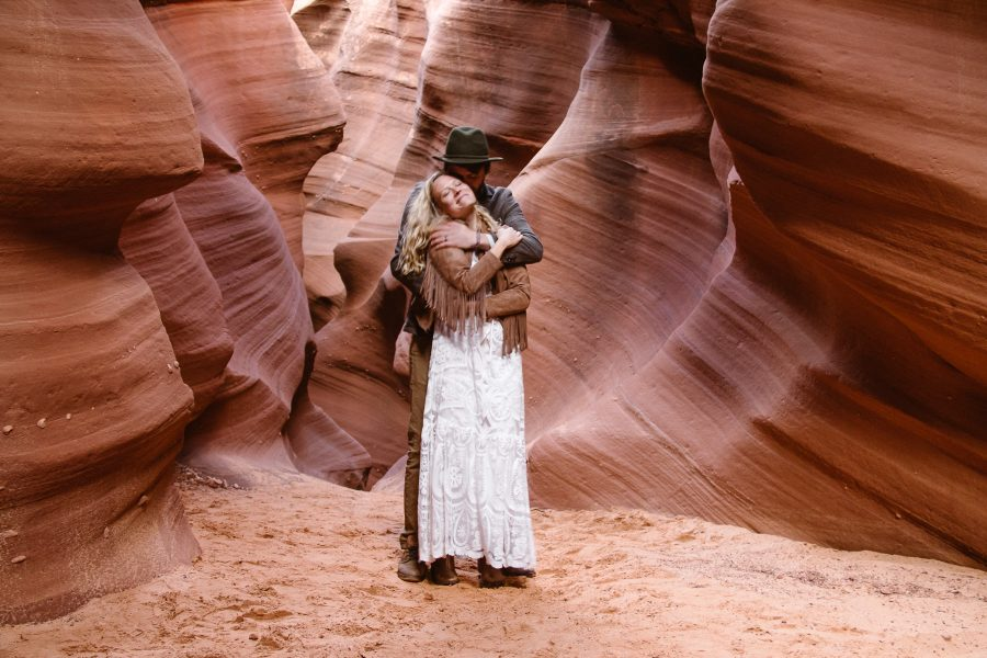 Soak up all the magic of a slot canyon with the one you love