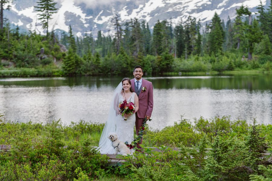 Picture Lake in Mount Baker is an incredible backdrop for your elopement photos