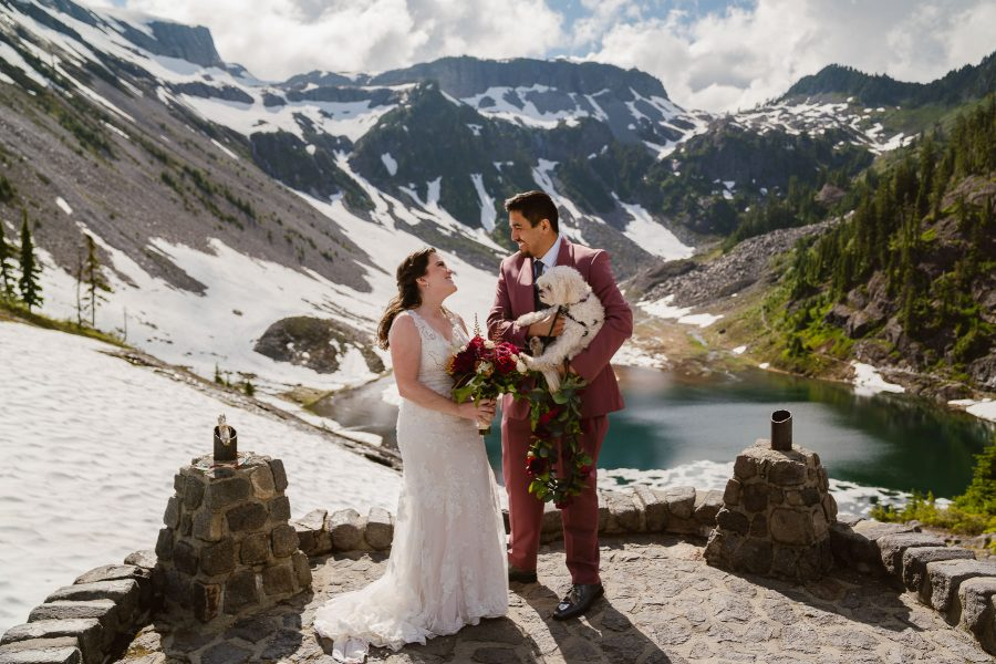 You can include your dog in your elopement in the Mount Baker Wilderness