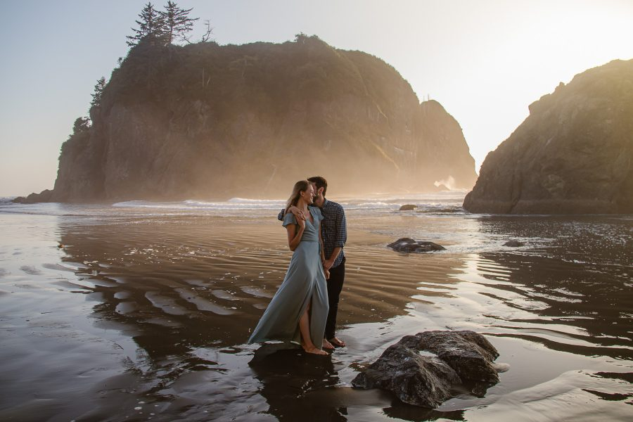 Ruby Beach at sunset is the perfect backdrop for your elopement