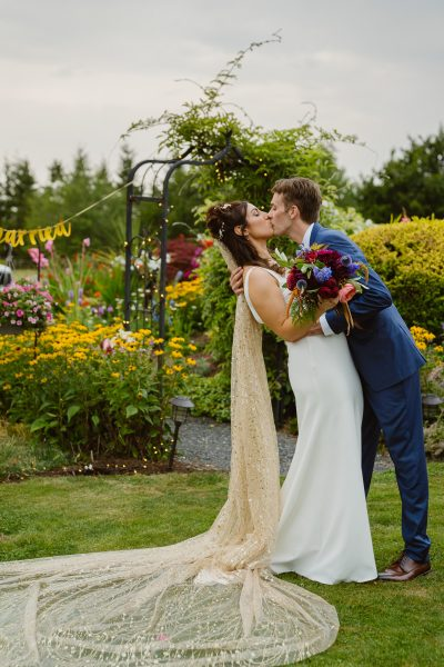 When you have a beautiful flower garden in your own backyard, you don't need to travel far for your ceremony