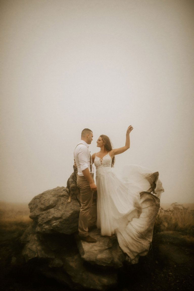 elope in Tennessee roan mountain