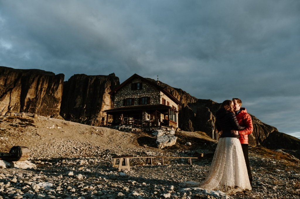 Dolomites wedding advenutre