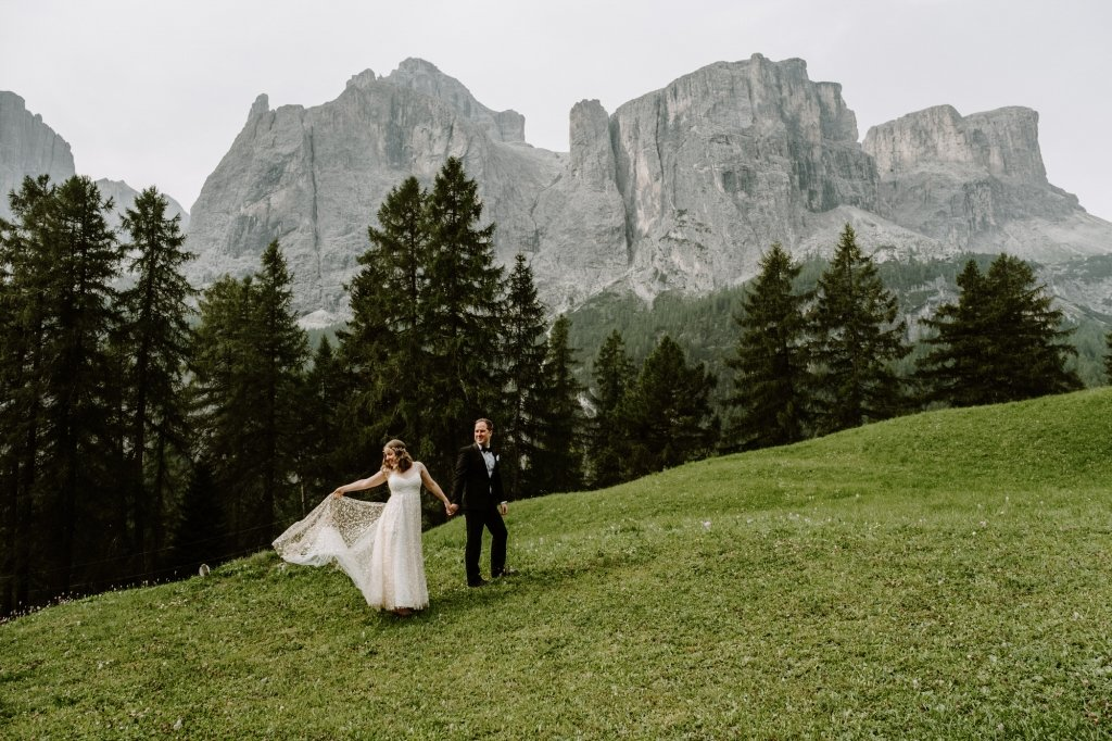 Dolomites elopement photography