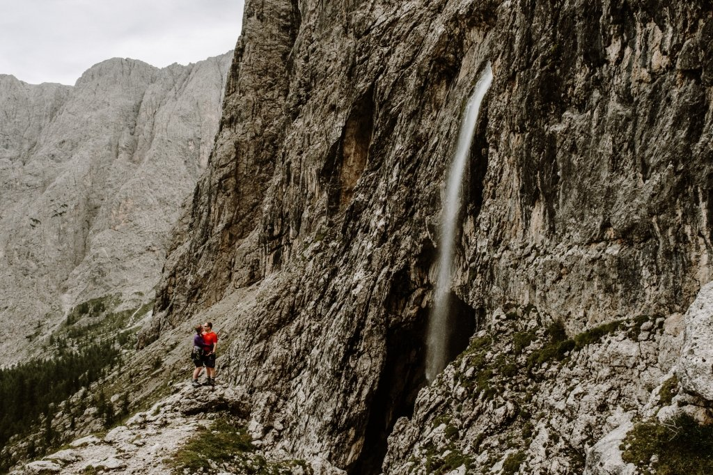 waterfall in the dolomites