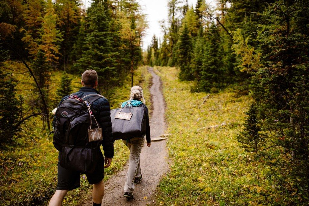 elopement at Canadian Rockies