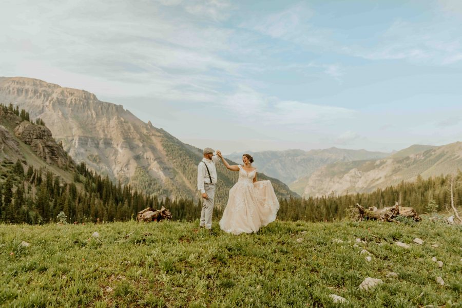First dance in the wildflowers