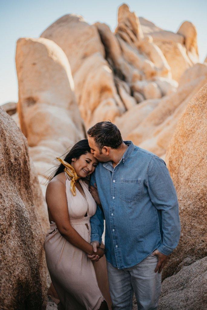 romantic engagement session