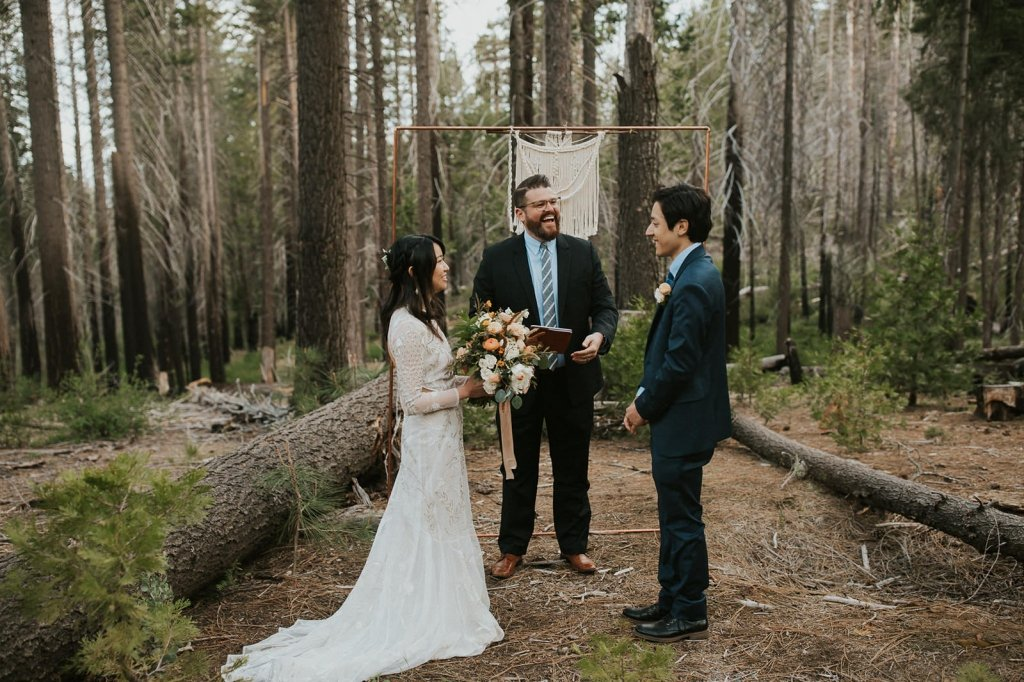 Yosemite wedding ceremony