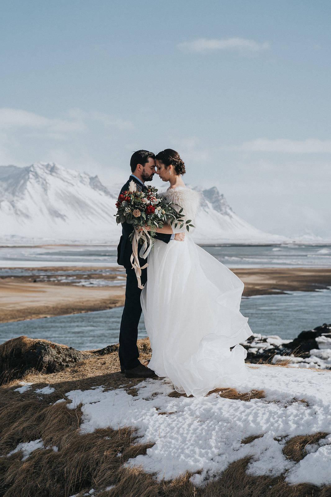 Budir Iceland wedding at the black church